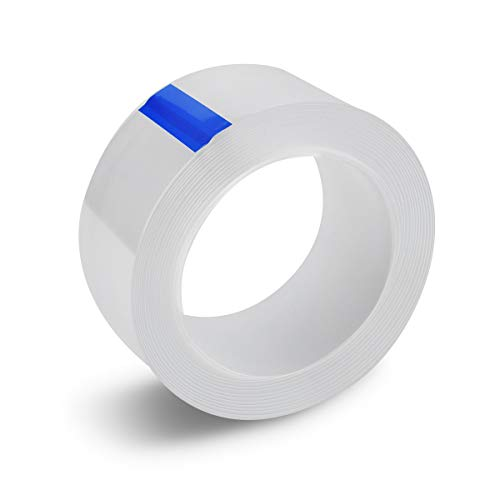 防水テープ 防カビテープ 台所 コーナーテープ 補修テープ 隙間テープ 透明テープ 防水 防油 防カビ 汚れ防止 強力 透明 洗濯可能 台所 キッチン バスルーム 浴槽まわり ベランダ 洗面台用など (0.8mmx30mmx5m)