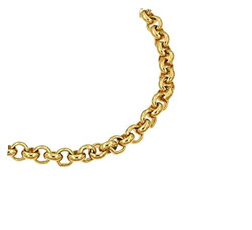 Erbsarmband Gold Doublé 14 mm 23 cm Goldarmband Herren-Armband Damen Geschenk Schmuck ab Fabrik Italien tendenze EGYs14-23v