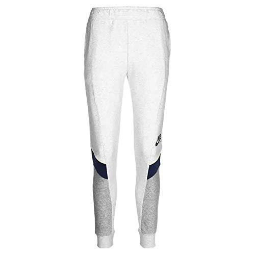 NIKE W NSW Heritage Jogger FLC MR Pantalones de compresión, Birch Heather/Grey Heather/Midnight Navy/(Black), M para Mujer