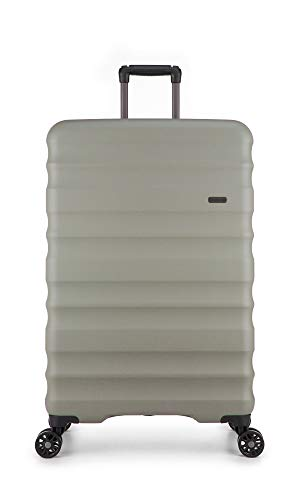 Antler Clifton, Durable & Expandable Lightweight Hard Shell Suitcase - Colour: Olive, Size: Large