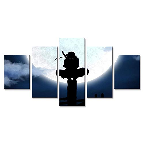 Naruto Itachi Canvas Posters - 5 Piece Poster - Wall Art Print - Image Printed - Art on Canvas - Art Print Images