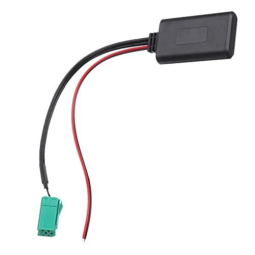 CROSYO 1pc Coche Módulo Bluetooth Módulo Aux Adaptador Inalámbrico Radio Reproductor Estéreo Aux-in o Cable para Renault Cloo Kangoo Megane para Scenic (Color Name : Negro)