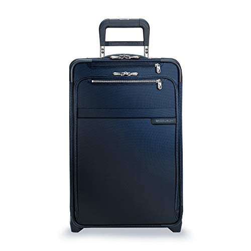 Briggs & Riley Baseline-Softside CX Expandable Carry-On Upright Luggage, Navy, 22-Inch
