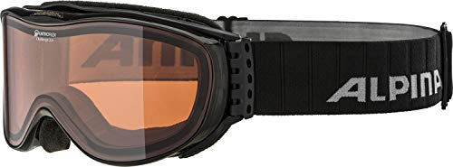 Alpina Skibrille Challenge 2.0, Black Transparent, One Size