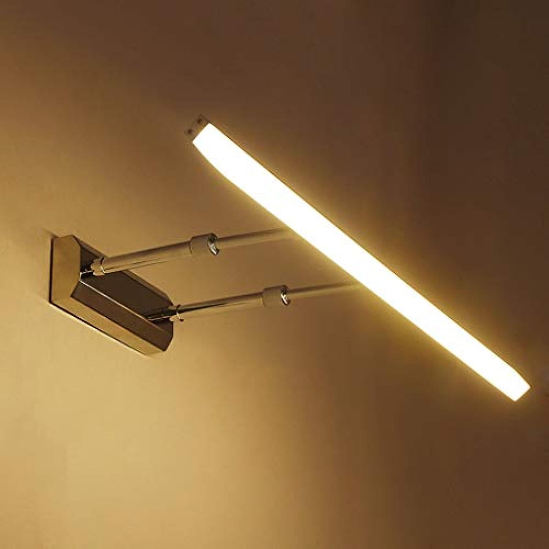 Badezimmerspiegel Beleuchtung LED-Spiegel Scheinwerfer, moderne Edelstahl verstellbare Badezimmer Badezimmer wasserdicht Nebel Spiegelschrank Lampen (Farbe  warmes Licht-8w 40 cm)