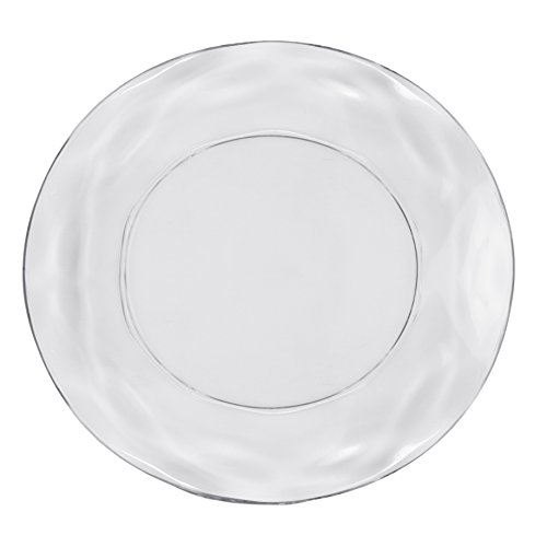 CreativeWare ICE11 Ice Blocks Lunch Plate (Set of 4), Clear