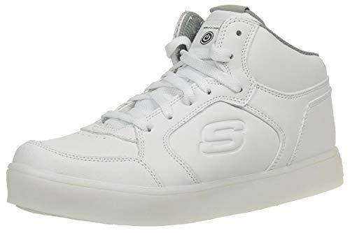 Skechers Kids Boys Energy Lights Sneaker,3 M US Little Kid,White