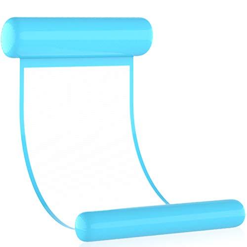 Hamac d'eau Gonflable,Flottant de Inclinable,Lit Flottant Gonflable Hamac,4 -en-1 Flottantes Hamac,Lit Flottant Hamac d'eau,Gonflable Flottant Lit Eau,Flotteur Piscine pour Adulte (bleu)