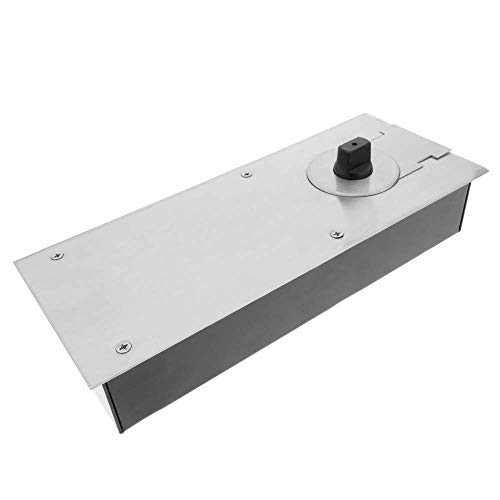 PrimeMatik - Cierrapuertas de Suelo. Cierre automático de Puertas de 80Kg 90° 258x103x48mm