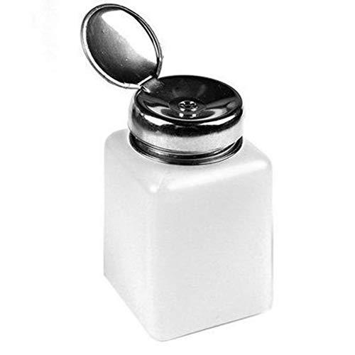 Oyfel. Bouteille Pompe Liquide A Dissolvant Flacon Pompe Distributeur De Dissolvant Nettoyant Nail Art Ongle Flacon Pompe Distributeur Vide Bouteille Dissolvant Blanc 200ml