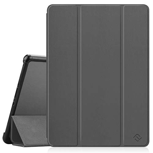 FINTIE SlimShell Case for Samsung Galaxy Tab S4 10.5 Inch Tablet (SM-T830/T835/T837) - Super Thin Lightweight Stand Cover with Protective S Pen Holder Auto Sleep/Wake Feature, Space Grey