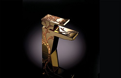 maier Luxury–Grifo de lavabo, mezclador dorado