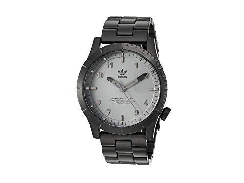 adidas Herrenuhren Cypher_M1. 3 Link Solide Edelstahl-Armband, 22 Mm Breite (0,42 Mm) Schwarz/Charcoal