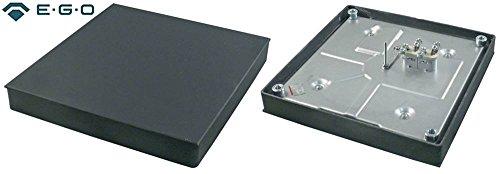 EGO 11.33470.195 Kochplatte für Elektroherd Capic W380351, W380341, W380741, W380321 mit Gussrand 400V 3000W quadratisch