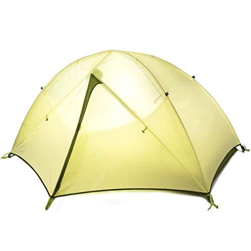 YBB-YB YankimX - Tienda de campaña de doble capa impermeable resistente al viento para personas al aire libre ultraligera portátil para exteriores, color amarillo