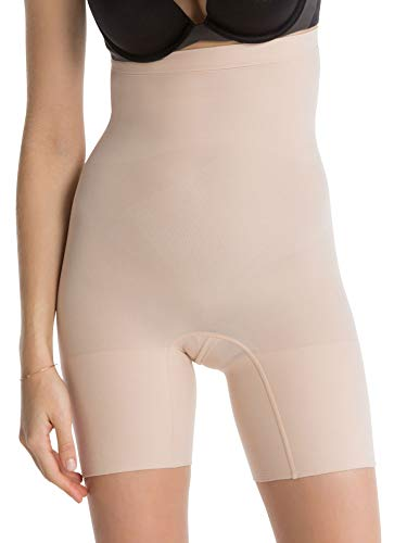 SPANX Shapewear for Women Tummy Control High-Waisted Power Short (Regular and Plus Size, Soft Nude, XL)