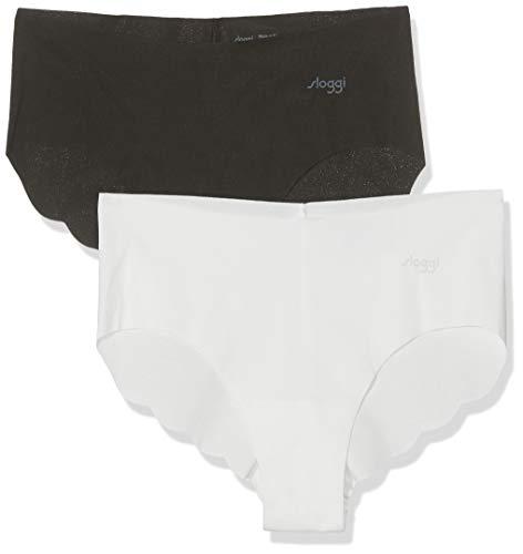 Sloggi Zero Cotton Hipster C2p Slip, Multicolore (Black Combination M014), XL (Pacco da 2) Donna