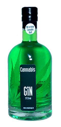 Pfiffig-Wohnen Cannabis Gin mit echtem Hanfblatt Cannabiskaja 500ml 37,5%