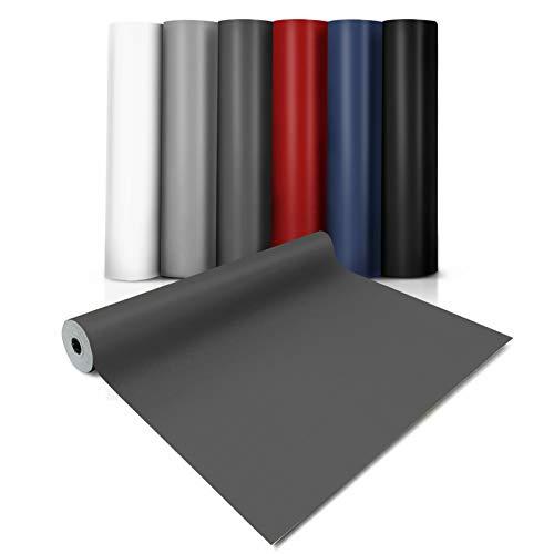 casa pura® CV Bodenbelag Expotop - extra abriebfester PVC Bodenbelag (geschäumt) - Einfarbig Anthrazit - Oberfläche strukturiert - Meterware (100x450 cm)