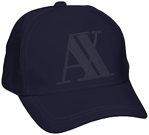 Armani Exchange Herren Rubber Logo AX Baseball Cap, Blau (Navy-Navy 37735), One Size (Herstellergröße: TU)