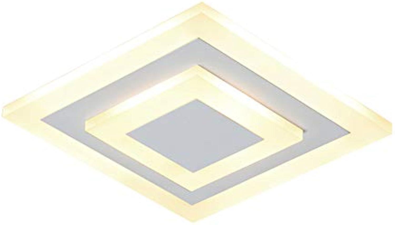 Nordic Deckenleuchte LED Quadratisch Deckenleuchte Mini Deckenleuchte für Wohnzimmer Gang Restaurant, Φ20cm warmes Licht 7W (Farbe   Wei)