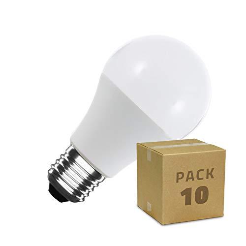 LEDKIA LIGHTING Pack Bombillas LED E27 Casquillo Gordo A60 12W (10 un) Blanco Neutro 4000K - 4500K