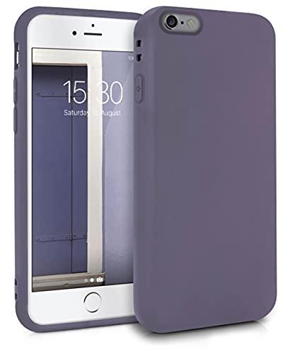 MyGadget Cover per Apple iPhone 6   6s - Custodia Protettiva in Silicone Morbido – Case TPU Flessibile - Protezione Antiurto & AntiGraffio - Viola Scuro