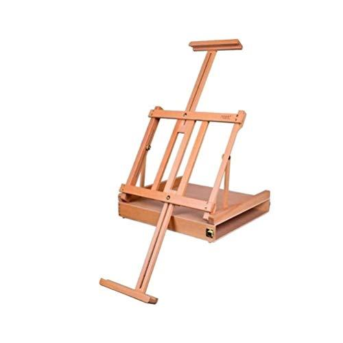 ZXnrz Maytty lang canvas hoogte opvouwbare massieve houten tafel gemakkelijk te dragen inklapbare olieverfschilderij professionele Easel voor kunstenaars Display Reclame Rack -622