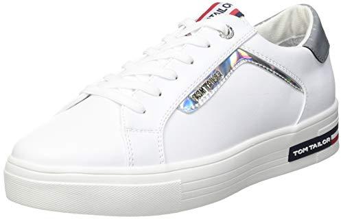 TOM TAILOR Damen 1194503 Sneaker, Weiß, 43 EU