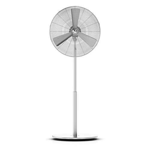 Stadler Form C-060 NEW CHARLY Large Stand Fan Floor, 37 W, Gris metalizado