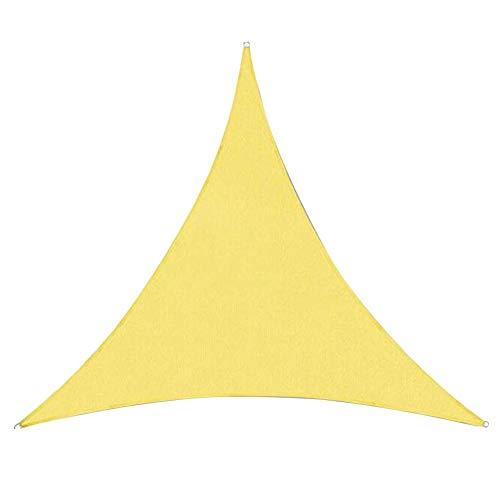LRZLZY Shading Triángulo pérgola Cubierta de protección Solar Sombra Actividad Neta de Tela de Polietileno, 5 Colores, 3 tamaños Respetuoso del Medio Ambiente (Color : Yellow, Size : 5X5X5M)