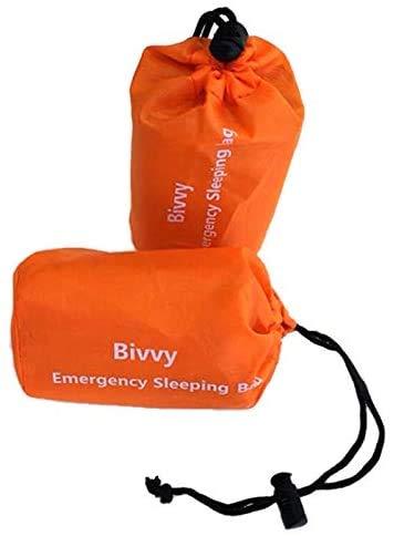 Hinleise Notfall-Schlafsack, Thermo-Decke, wasserdicht, Überlebensdecke, für Outdoor, Camping, Wandern (2 Stück)