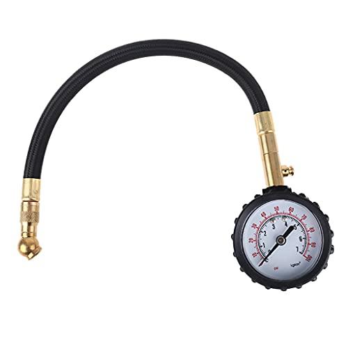 Meipai Medidor de presión de neumáticos Integrado Profesional, Hardware de dial de fácil Lectura, Adecuado para automóviles, Camiones, Motocicletas, Bicicletas