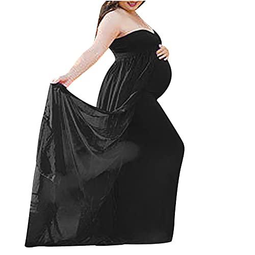 AMhomely Vestidos de maternidad para mujer, vestido largo de verano, talla grande, vestido de fiesta bodycon