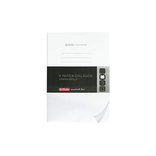 Herlitz 50034161 Refill für Notizheft flex, A4, 4 x 40 Blatt kariert, 1 Stück