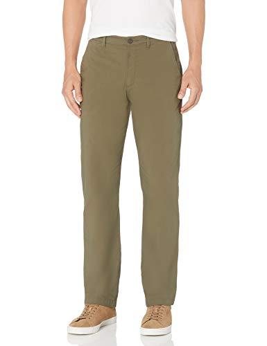 Amazon Essentials Leichte Stretch normaler Passform Hose, Olivgrün, 33W / 28L