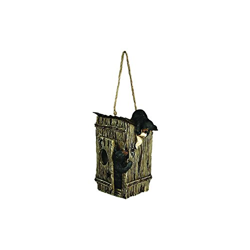 River's Edge Products Outhouse with Bears Birdfeeder