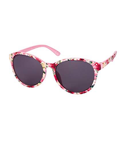 SIX Kids Sonnenbrille, UV-Filter, Oversize Brille, Floral, Verspiegelt, pink, rosa, schwarz (128-834)