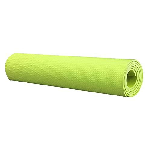 Esterilla de yoga antideslizante con textura de superficie de fitness gruesa para ejercicios de entrenamiento para interiores y yoga, fitness, mujer y hombres
