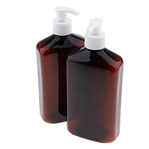 Bonarty Botellas Cosméticas Recargables de La Botella de La Bomba del Aerosol Vacía del Animal DOMÉSTICO 2pcs - Cabeza de Bomba Blanca, Individual