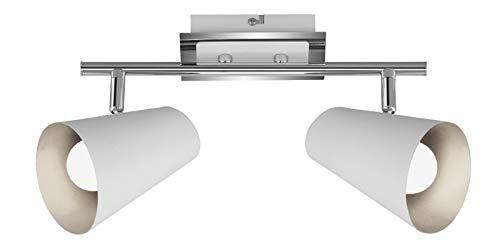 Lámpara de techo 2 focos Briloner 2851-026 Foco Blanco Plata E14