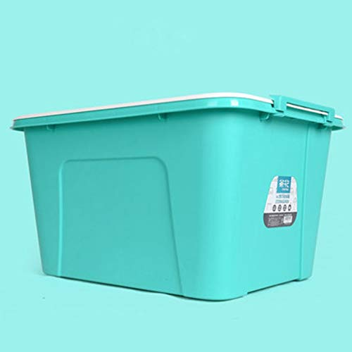 GAOLE Caja de Almacenamiento portátil, Juguetes, Ropa, DVD, Libros, Alimentos, Ropa de Cama, Arte y artesanía de plástico, 59.5 cm x 45 x 32.5 cm (Color : Green)