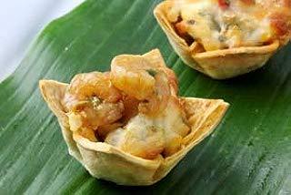 Southwestern Shrimp Taco Bowl - Gourmet Frozen Appetizers (45 Piece Tray)