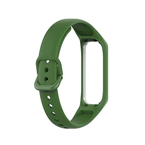 Reloj Strap Silicone Sport para Samsung Galaxy Fit-E SM-R375 Pulsera deportiva inteligente pulsera Reemplazar accesorios (Color : Green)