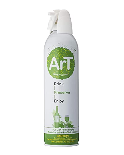ArT Wine Preserver | Premium Wine Preservation | Argon Gas | Wine Saver Spray | Eliminate Oxidation