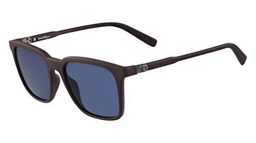 Ferragamo SF843S rechthoekige zonnebril 56, bruin