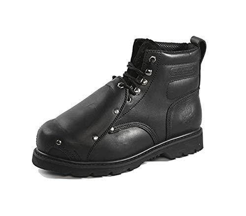 "Rhino Men's 6MS01 6"" Steel Toe Metatarsal Leather Work Boot (9, Black)"