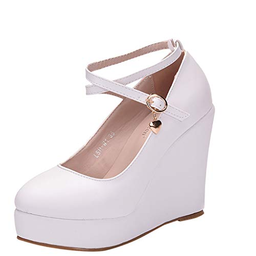 Best Review Of EDTO Women Summer Wedges Platform Sandals Women's Ladies Fashion Cross Strap Large Si...