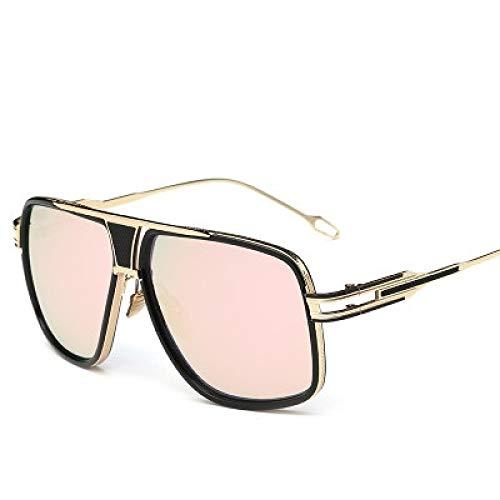 Gafas De Sol Gafas De Sol Steampunk para Hombre Y Mujer, Gafas De Sol Vintage, Cara Grande, Gafas De Sol De Gran Tamaño para Hombre Y Mujer, Rosa Dorado