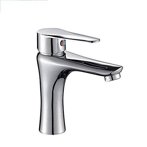 DJY-JY Latón frío grifo del grifo del lavabo del grifo del baño encima del contador lavabo lavabo solo agujero grifo de la cocina